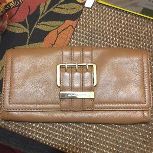 Michael Kors Brown Leather Clutch